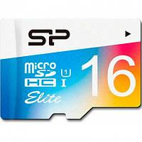 Карта памяти Silicon Power microSDHC 16Gb Elite Color UHS-1 (R-85 Mb/s)