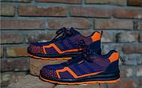 Кросівки 232 S1 захисна з металевим носком,антистатичні, оранжево синього кольору. URGENT (POLAND)