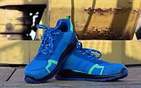 Кросівки 231 S1 захисна з металевим носком,антистатичні, синього кольору. URGENT (POLAND)