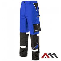Брюки рабочие PROFESSIONAL-REF синего цвета с черными вставками.ARTMAS