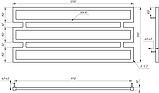 Полотенцесушитель Genesis-Aqua Omnia 120x55 см, фото 2