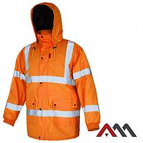 Куртка зимняя светоотражающая KURTKA FLASH ORANGE KAT.2 ARTMAS