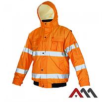 Куртка зимняя светоотражающая KURTKA FLASH SHORT ORANGE KAT.2.ARTMAS