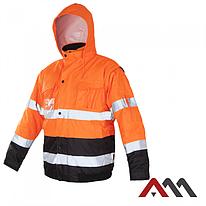 Куртка зимняя светоотражающая KURTKA FLASH SHORT-B ORANGE.ARTMAS