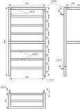Полотенцесушитель Genesis-Aqua Aro 100x53 см, фото 2