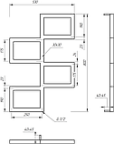 Полотенцесушитель Genesis-Aqua Fito 80x53 см, фото 2