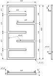 Електричний полотенцесушитель Genesis-Aqua Infinite 100x53 см, фото 2