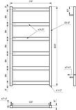 Електричний полотенцесушитель Genesis-Aqua Minimal 100x53 см, фото 2