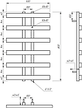 Электрический полотенцесушитель Genesis-Aqua Symmetry 80x53 см, фото 2