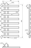 Електричний полотенцесушитель Genesis-Aqua Split 100x53 см, фото 2