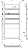 Електричний полотенцесушитель Genesis-Aqua Level 120x53 см, фото 2