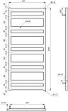Электрический полотенцесушитель Genesis-Aqua Fom 120x53 см, фото 2