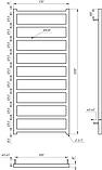Электрический полотенцесушитель Genesis-Aqua Bud 120x53 см, фото 2