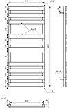 Электрический полотенцесушитель Genesis-Aqua Alpina 120x53 см, фото 2