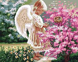 Картина по номерам 40*50 см  Ангел счастья