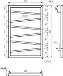 Електричний полотенцесушитель Genesis-Aqua Genesis Light 80x53 см, фото 2