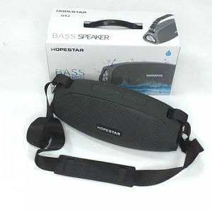 Портативна бездротова стерео колонка Hopestar H43 c Bluetooth, USB і MicroSD Темно-Сіра