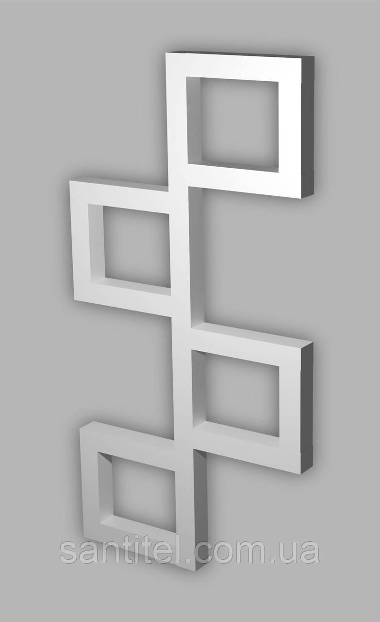 Полотенцесушитель Genesis-Aqua Fito 100x53 см, білий
