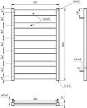 Электрический полотенцесушитель Genesis-Aqua Bull 80x53 см, белый, фото 2