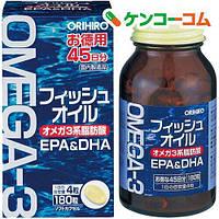 Omega Омега-3 Риб'ячий жир Високоочищений EPA DHA, ORIHIRO Японія 180 капсул на 45 днів, фото 1