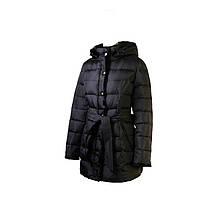Пуховик женский Snowimage классика,средней длины,мех(норка)черный