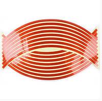 Наклейки обода колеса красная Светоотражающая