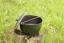 Казан чавунний на 12 літрів казанок з кришкою і триногою в комплекті, фото 2