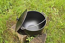 Казан чавунний на 12 літрів казанок з кришкою і триногою в комплекті, фото 3