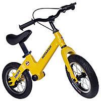 Детский беговел с ручным тормозом Maraton Prime  (жёлтый)