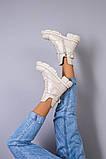 Ботинки женские кожаные молочного цвета демисезонные, фото 7