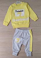 Детский костюм 3-9 мес двунитка для девочек Турция оптом