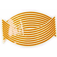 Наклейки обода колеса  cветоотражающая цвет золотистый
