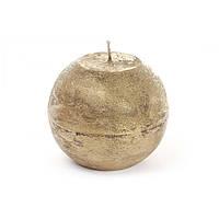 Свічка куля 8см,золотиста B008_1-9.2/0388/Bonadi