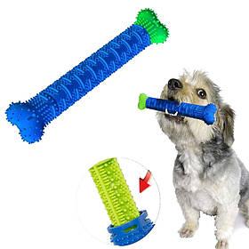 Зубная щетка для собак самоочищающаяся резиновая собачья кость для зубов для чистки десен Chewbrush