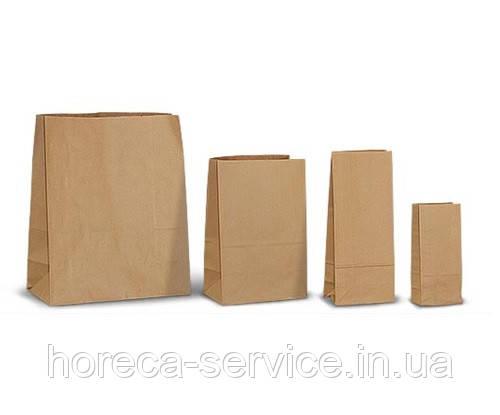 """Пакет бумажный """"Саше"""" 230х100х70 крафт 100 шт."""