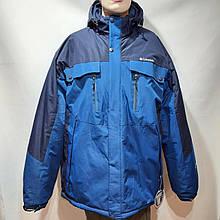 66 р. Чоловіча куртка зимова гірськолижна на кашемире остання синя