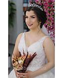Акуратна тіара з перлинками та фіанітами (4см), фото 2