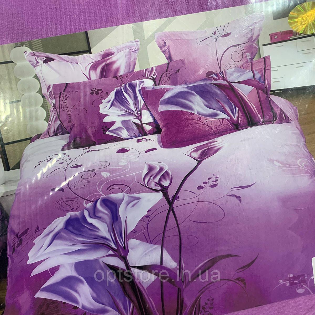 """""""бузкове"""" постільна білизна Elway Premium євро розмір 200*220 см, тканина сатин 100% бавовна"""