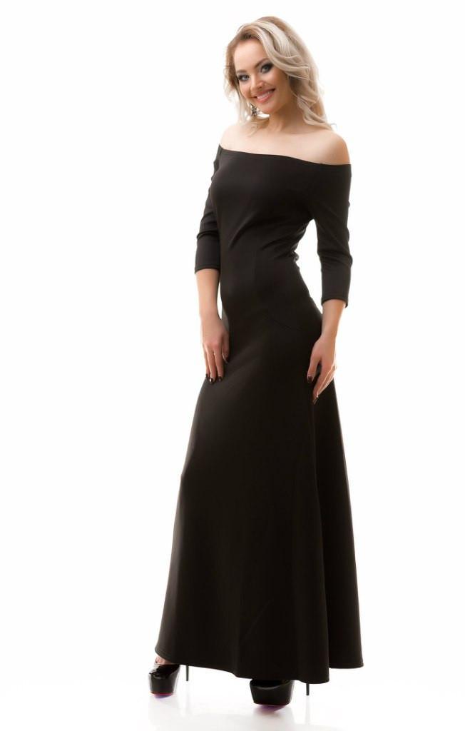 Платье в пол с бантиком