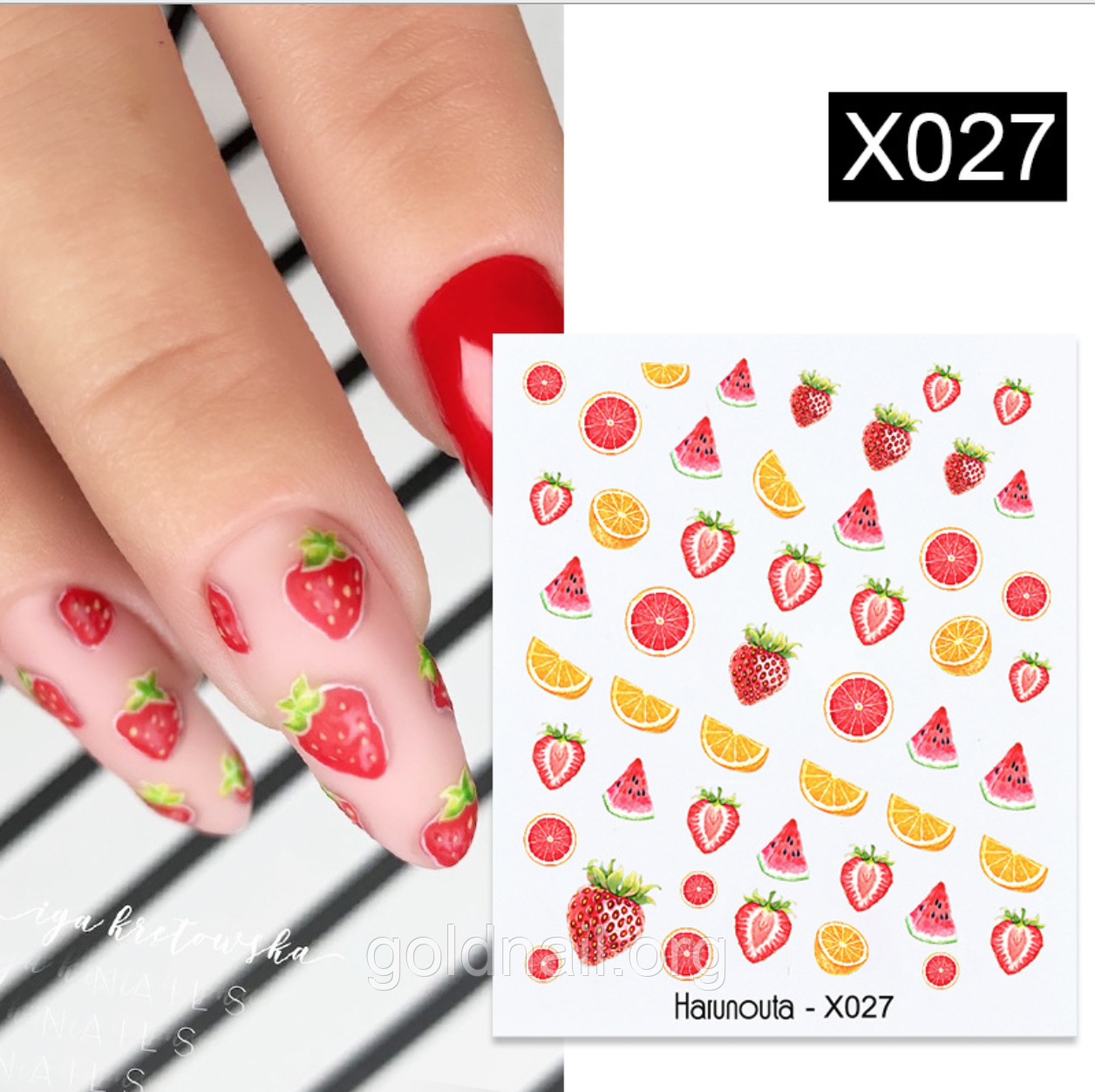 Слайдер водный для дизайна ногтей Harunouta-X027