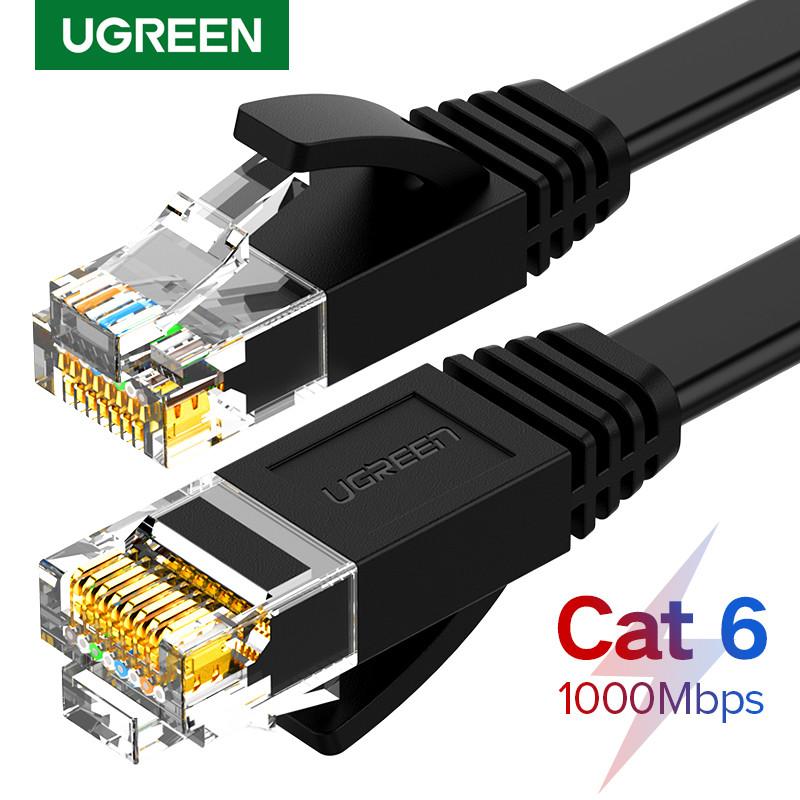 Високоякісний кабель10 Гбіт\с Ethernet RJ45 Cat 7 плоский мережевий кабель Патч-корд Ugreen NW107