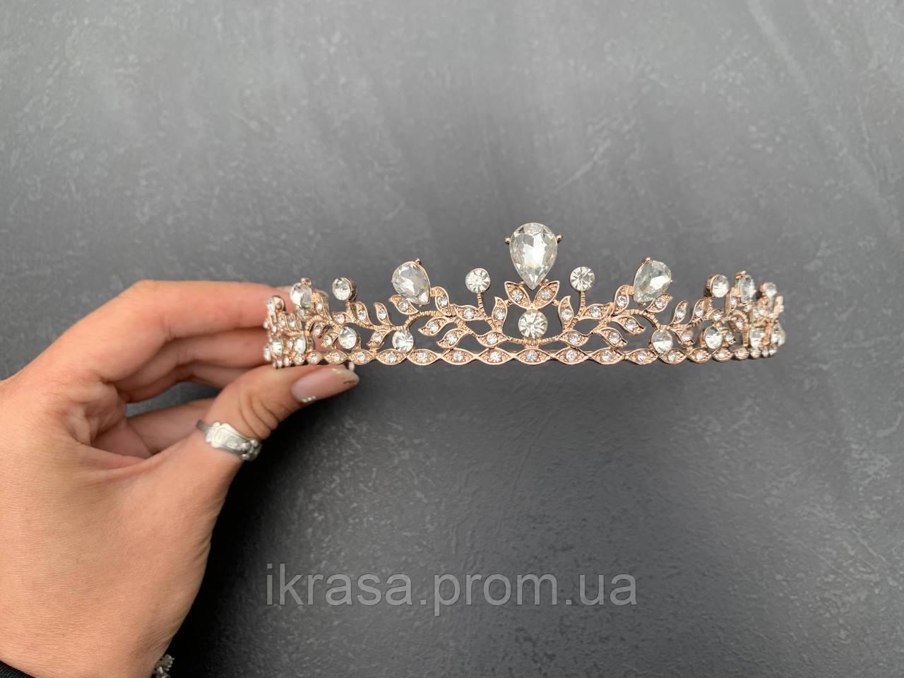 Martina Не висока тіара діадема, корона полукруг (3см)