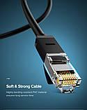 Високоякісний кабель10 Гбіт\с Ethernet RJ45 Cat 7 плоский мережевий кабель Патч-корд Ugreen NW107, фото 5