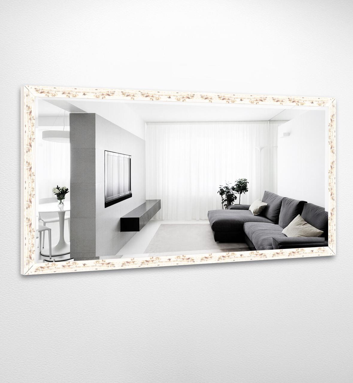 Настенное зеркало БЦ Стол Диана прямоугольное B09-F белое