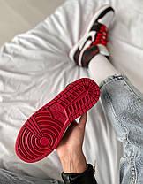 Женские мужские кроссовки Air Jordan 1 Retro Bloodline Black Red White Найк Аир Джордан 1 Ретро 555088-062, фото 3