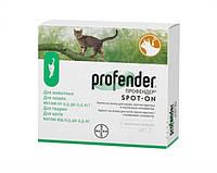 Капли на холку от глистов для кошек от 0,5-2,5кг Профендер (эмодепсид, празиквантел)