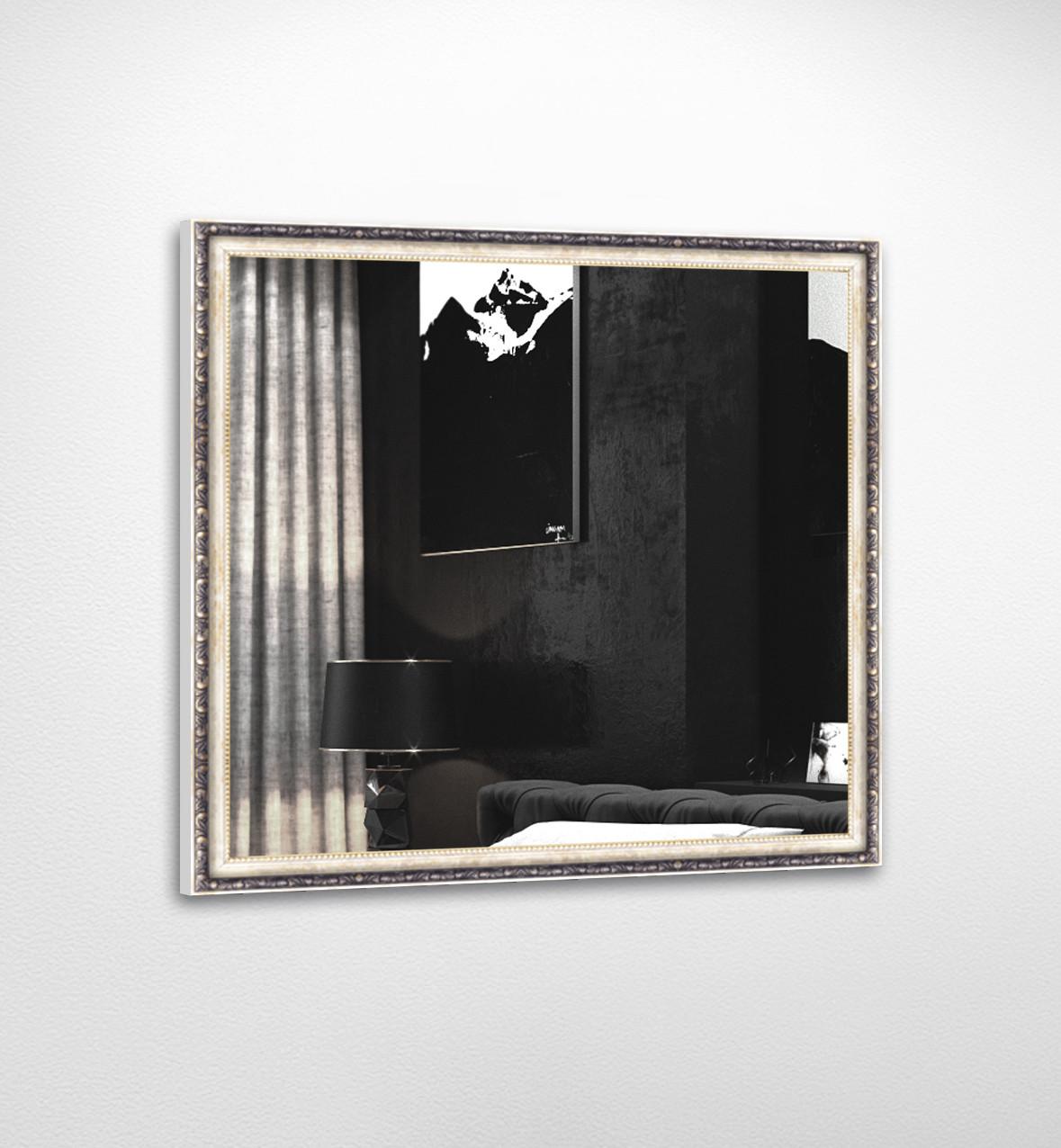 Настенное зеркало БЦ Стол Жанетт квадратное B01 белое