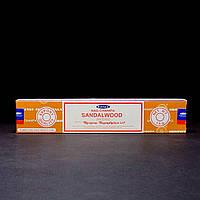 Благовония Sandalwood (Сандалвуд) от фирмы Satya (Сатья) - натуральные, индийские, пыльцевые 15 г