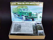 Советский военный грузовик ЗИЛ-157К. Сборная модель в масштабе 1/35. TRUMPETER 01003, фото 2