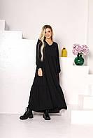 Женское длинное легкое платье больших размеров